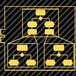 architectual model, chart, decomposition, diagram, process structure, report, zachman icon