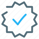 certified, check, good, quality icon