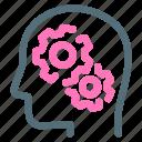 brain, process, robot, think icon