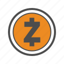 coin, coins, crypto, cryptocurrency, zcash icon