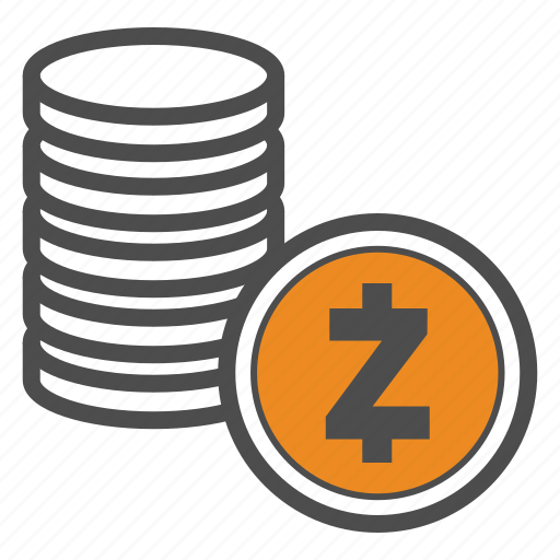 Coin Coins Crypto Cryptocurrency Zcash Icon