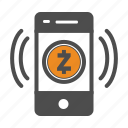 app, coin, crypto, cryptocurrency, mobile, zcash icon
