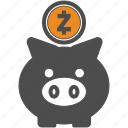 backup, coin, crypto, cryptocurrency, save, zcash icon