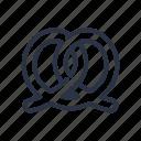 bagel, bakery, pretzel icon