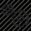 gears, process, run, settings icon