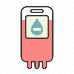 blood, drip, health, infusion, iv, negative, nurse icon