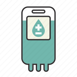 blood, doctor, heal, health, hospital, iv, type icon