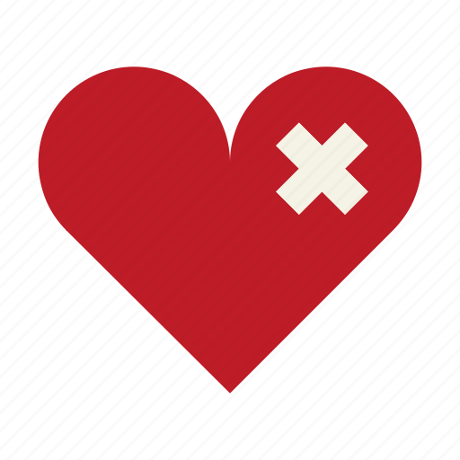 broken heart, cardiac, heal, health, heart, patch, sad icon