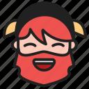 dwarf, emoji, emoticon, face, happy, smiling icon