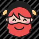 blush, dwarf, emoji, emoticon, face icon