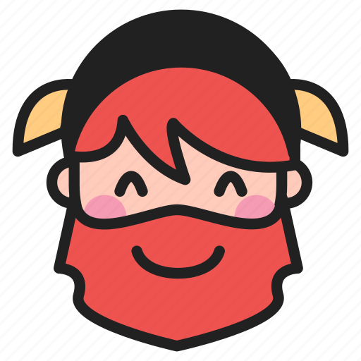 blush, dwarf, emoji, emoticon, face icon
