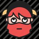 dwarf, emoji, emoticon, face, rolling eyes icon
