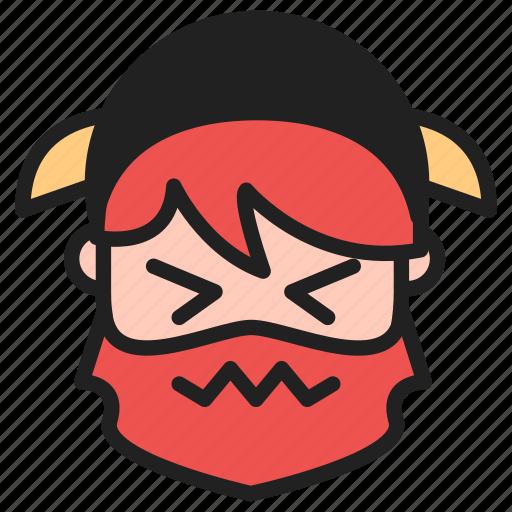 dwarf, emoji, emoticon, face, perservering icon