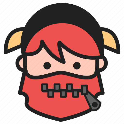 dwarf, emoji, emoticon, zipper icon