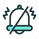 alarm, bell, silent, vibrate icon