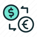 currency, exchange, rate, value icon