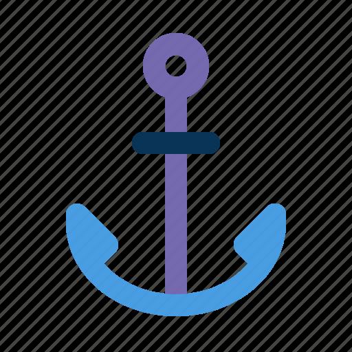 anchor, beach, ship icon