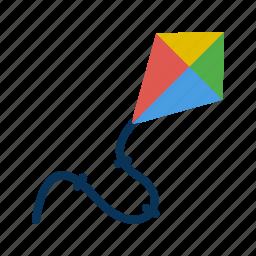 kid, kite, toy icon