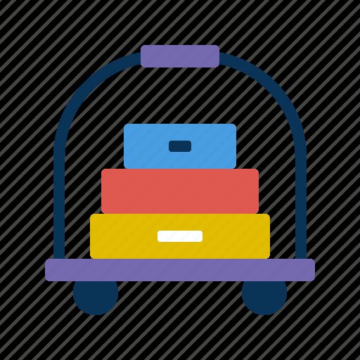 cart, luggage, transport icon