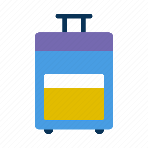 Carry on, roller, suitcase icon - Download on Iconfinder