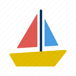 boat, kid, sail, ship, toy icon