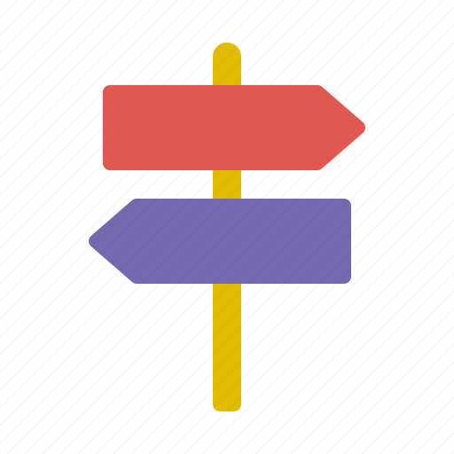 direction, left, posts, right, sign icon