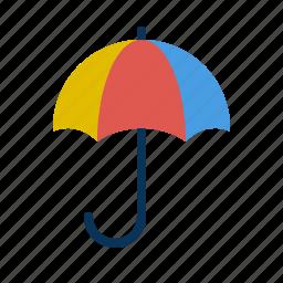 beach, colorful, rainbow, umbrella icon