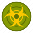 biohazard, biological, cloud, danger, dangerous, toxic, warning icon