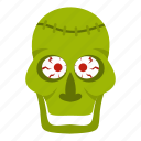 evil, halloween, horror, monster, skull, trepanation, zombie icon