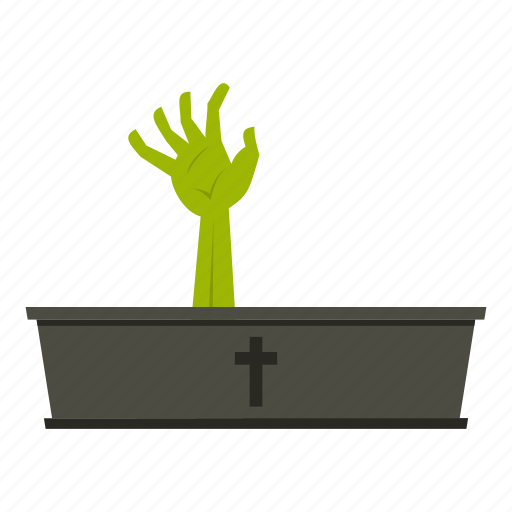 Coffin, grave, halloween, hand, horror, undead, zombie icon - Download on Iconfinder