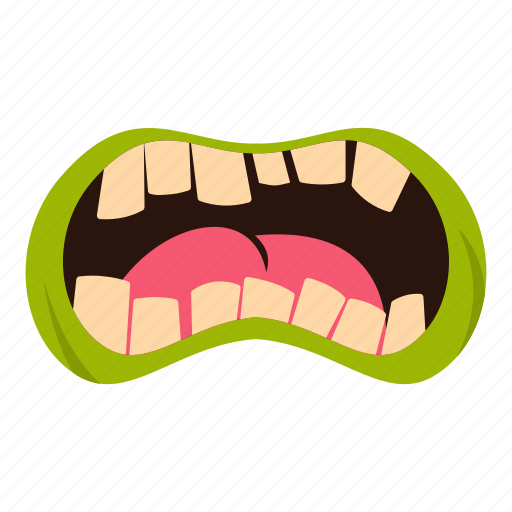 death, horror, monster, mouth, scary, teeth, zombie icon