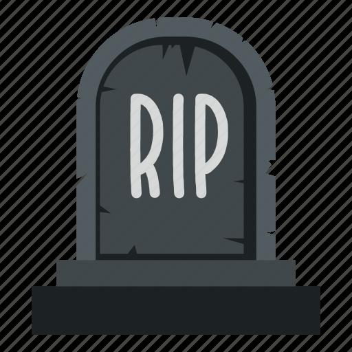 death, grave, graveyard, headstone, rip, stone, tombstone icon