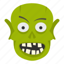 evil, halloween, horror, monster, scary, skull, zombie icon