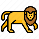 animal, lion, wildlife, zoo icon