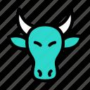 bull, animal, zoo, forest, wild