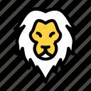 lion, animal, zoo, wild, forest