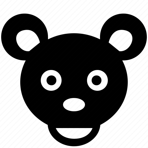 animal, bear, face, head icon
