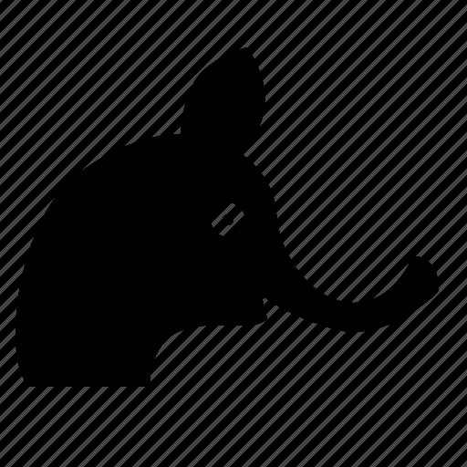 animal, elephant, head, zoo icon