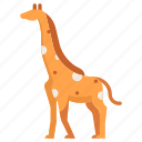 african, animal, giraffe, mammal, safari, wildlife, zoo icon