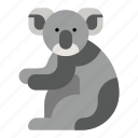 animal, australia, bear, koala, mammal, marsupial, zoo icon