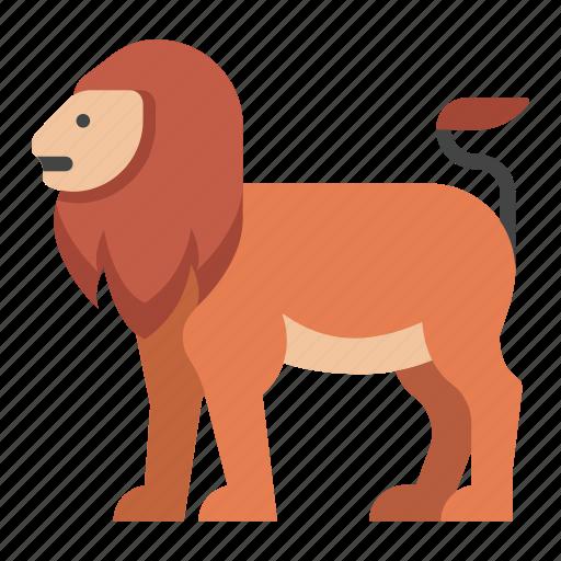 Animal, leo, lion, mammal, panthera, wildlife, zoo icon - Download on Iconfinder