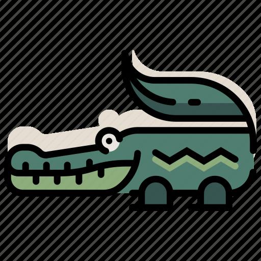 alligator, amphibian, animal, crocodile, predator, reptile, zoo icon