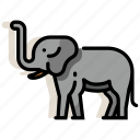 africa, animal, elephant, mammal, safari, wildlife, zoo icon