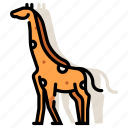 african, animal, giraffe, mammal, safari, wildlife, zoo icon