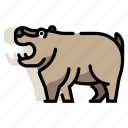 africa, hippo, hippopotamus, mammal, safari, wildlife, zoo icon