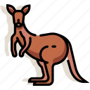 animal, australia, kangaroo, mammal, wildlife, zoo icon