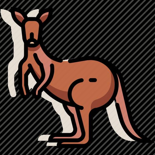 animal, australia, kangaroo, mammal, wildlife, zoo icon