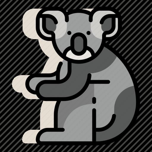 animal, australia, bear, koala, mammal, marsupial, zoo icon