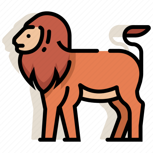animal, leo, lion, mammal, panthera, wildlife, zoo icon