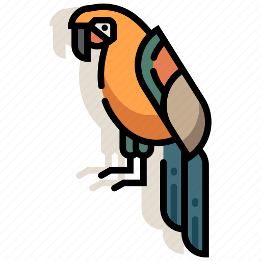 animal, bird, macaw, parrot, pet, tropical, zoo icon